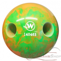 Lochkugel 160mm neongrün/orange marmoriert  TYP WINNER