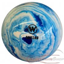 Vollkugel 160mm blau/weiss marmoriert  TYP WINNER