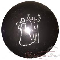 """Gravur """"Brautpaar"""" Logo auf Kegelkugel (ohne Kugel)"""