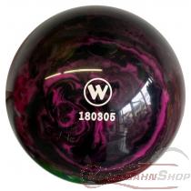 Vollkugel 160mm fuchsia/schwarz marmoriert   TYP WINNER