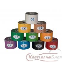 Kinesio-Tape in verschiedenen Farben