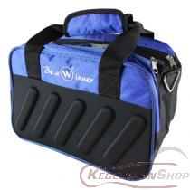 Kugeltasche blau/schwarz für zwei Kugeln TYP WINNER Premium