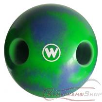 Lochkugel 140mm blau/neongrün marmoriert  TYP WINNER