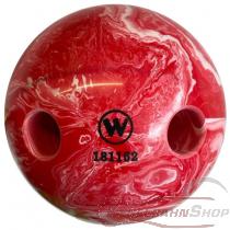 Lochkugel 160mm rot/weiss marmoriert  TYP WINNER