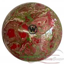 Vollkugel 160mm rot/grün/weiss Sonderfarbe feine Marmorierung TYP WINNER