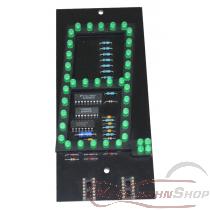 7-Segment-Leuchtdiodenanzeige mit Punkt grün im Austausch