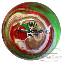 Vollkugel 160mm TRICOLOR rot/grün/weiss marmoriert TYP WINNER