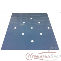 Vierpass PVC gefräst mit den gewählten Standplatten
